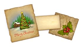 Old christmas greeting card Royalty Free Stock Photos