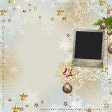 Old Christmas greeting card Stock Photo