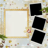 Old Christmas greeting card Stock Photos