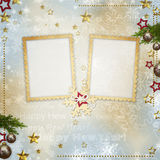 Old Christmas greeting card Royalty Free Stock Photo