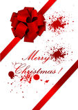 Old Christmas illustration of a red ribbon Royalty Free Stock Photos