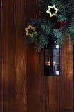 Old Christmas lantern Royalty Free Stock Photography