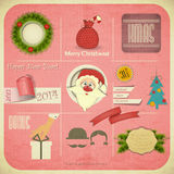 Old Christmas New Years card Royalty Free Stock Photography
