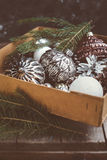 Old Christmas ornamentals in the box Stock Image