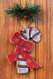 Old Christmas ornaments Royalty Free Stock Photos