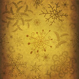 Old christmas paper Stock Photography