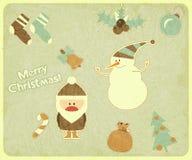 Old Christmas postcard Stock Image