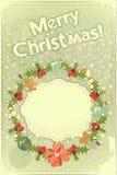 Old Christmas postcard Stock Photo