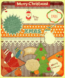 Old Christmas postcard Royalty Free Stock Photo