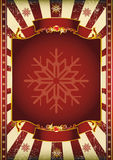Old Christmas Poster. A background on Christmas theme Stock Photos