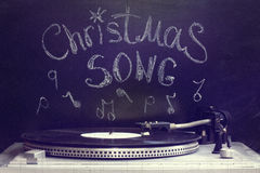 Old Christmas song Stock Images