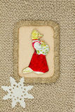 Old Christmas toys cardboard 1950-1960 period. Royalty Free Stock Photos
