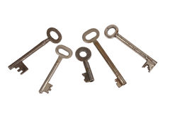Old chrome keys Stock Photography