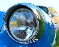 Old chromium-plated headlight. Of usa historical veicle Stock Photos
