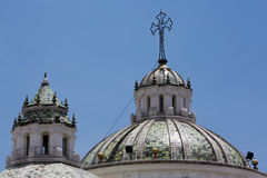 Old chruch in Quito with blue sky Royalty Free Stock Image