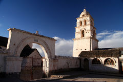 Old chuch in Curahuara Stock Image