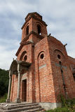 Old church. Abandoned old church from red bricks Stock Image