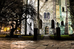 Old church. In Bergen city in Norway named Marie church Royalty Free Stock Photo