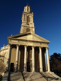 Old church. With tall stone columns Stock Photo