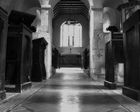 Old church. Inside of old church, Southern UK Royalty Free Stock Photo