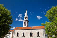 Old church. In the town of Budva. Montenegro Stock Photos