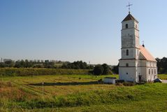 The old church. Old Uniate church in the Romanesque style Stock Photography