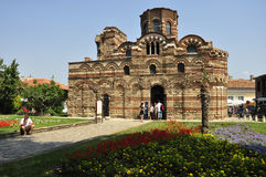 Old Church. NESSEBAR, BULGARIA - JULY, 16:The Christ Pantocrator Curch is dated back 13th - 14th century, on July, 16 2012 in Nessebar, Bulgaria. It's one of Stock Photo