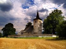 Old church. Old abandoned medieval church in Slovakia stock photography