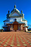 The old church_4.jpg. An ancient Christian church against the blue sky Royalty Free Stock Image
