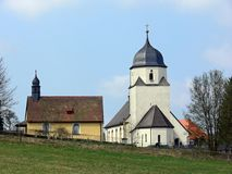 Old church. Church and chapel in a small village in Germany stock photography