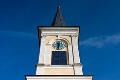 Old church. And the blue sky Royalty Free Stock Photography