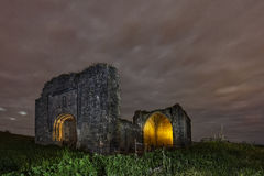 Old church. Abandoned old church at night Stock Images