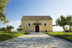 Old church in Agios Georgios Stock Images