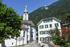 Old church at Altdorf in the Canton of Uri Royalty Free Stock Photos