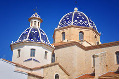 Old church in Altea, Spain Stock Images