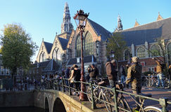 Old Church in Amsterdam, Holland Royalty Free Stock Photos