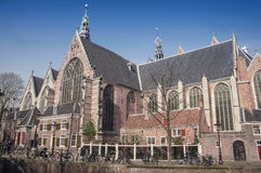 Old church in Amsterdam Stock Image