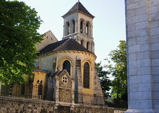 The old church. Ancient Christian church in the center of Paris in France Stock Photography