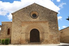 Old church of Andalusia Spain. Nice old church of Andalusia, south of Spain. Small church with clouds and blue sky. Roman style church Stock Photos
