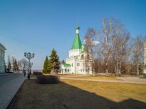 Old church of archangel Michael in Kremlin Royalty Free Stock Images