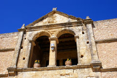 Old church at Arkadi village on Crete island, Gree Royalty Free Stock Photography