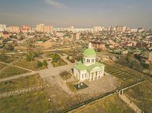 The old Church of Armenian Monastery Surb - Hach. Aerial view Royalty Free Stock Photo