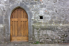 Old Church Back Door Stock Photography