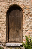 Old Church Backdoor. Backdoor of the St. Sofia basilica in Ohrid, Macedonia stock image