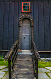 Old church backdoor. Backdoor of old norwegian church stock image