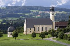 Old church in Bavaria, Germany. Old church in Bavaria. Germany Stock Photos