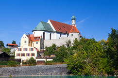 Church in Bavarian town Fussen Royalty Free Stock Image