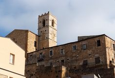Old church belfry in Piazza Armerina, Sicily, Ital Royalty Free Stock Images