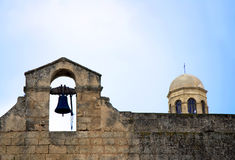 Old church bell. Bell tower of a little church in Rhodes - Greece Royalty Free Stock Images