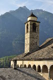 Old church bell tower, formazza valley, Italy Royalty Free Stock Images
